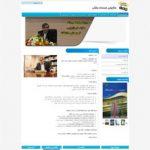 طراحی قالب وردپرس سایت خدمات بانکی .