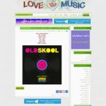 طراحی قالب وردپرس سایت موزیک