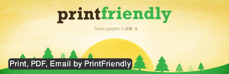 افزونه Print Friendly and PDF Button