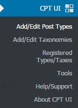 افزونه Custom Post Type UI