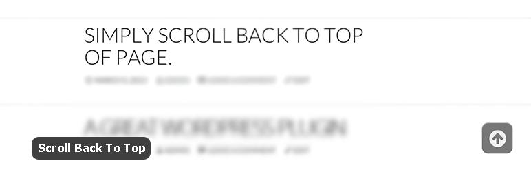 افزونه Scroll Back To Top