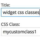 سفارشی سازی ابزارک های وردپرس با افزونه Widget CSS Classes