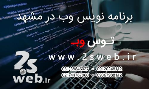 برنامه نویس وب در مشهد