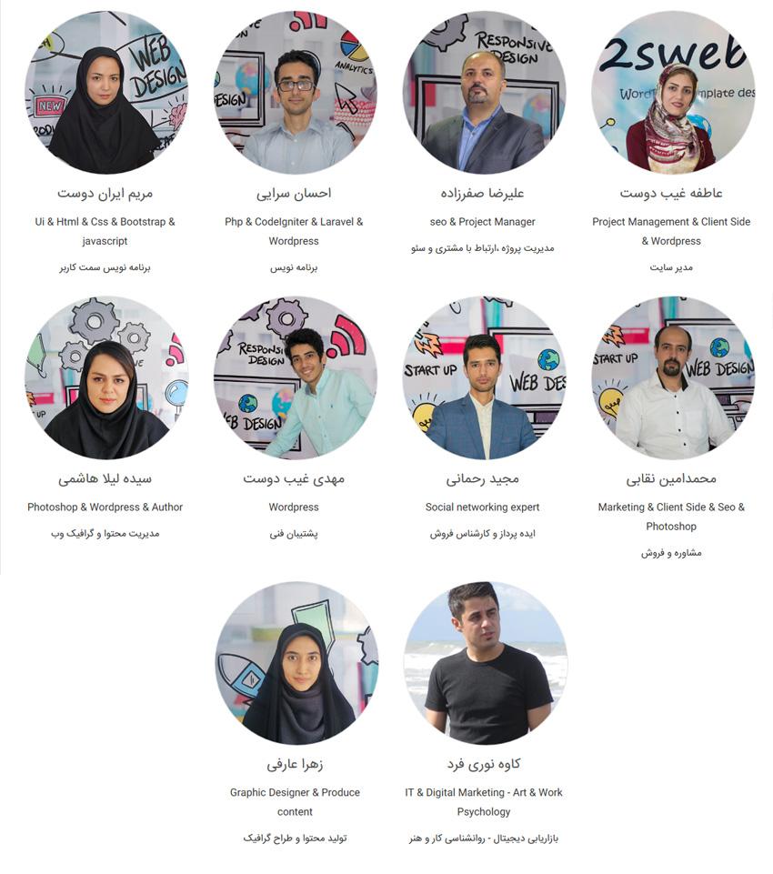 تیم ما در طراحی سایت در مشهد