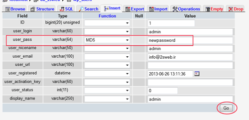 2sweb_user_pass_phpMyAdmin